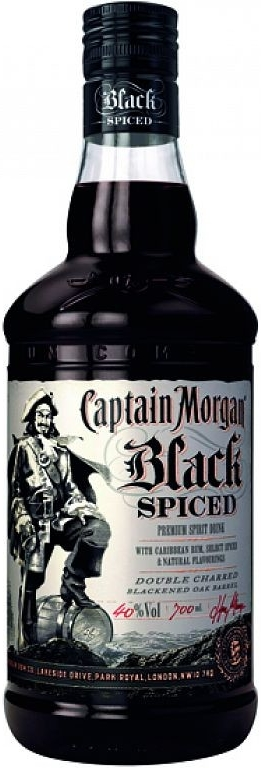 CAPTAIN MORGAN BLACK PREMIUM - 1L 40%