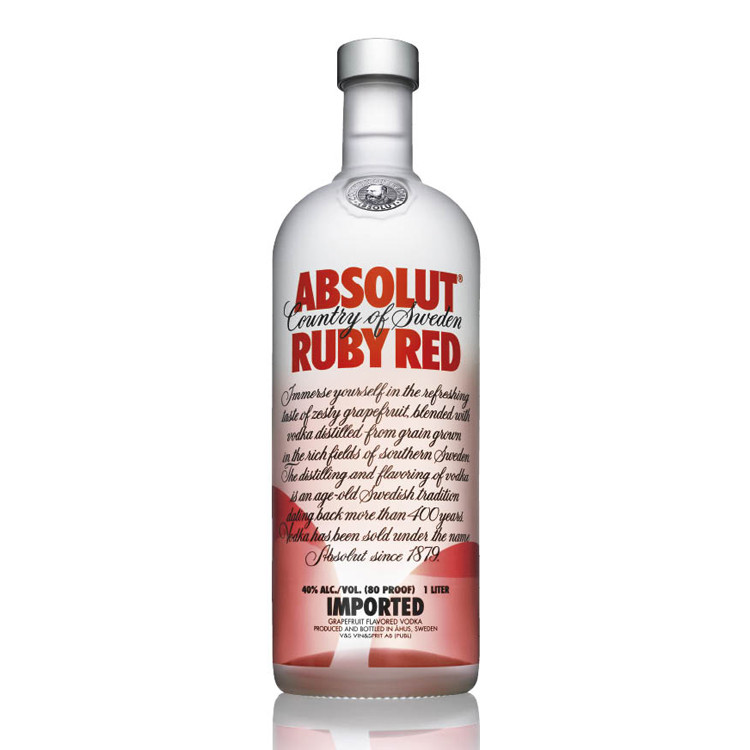 ABSOLUT RUBY RED - 1L