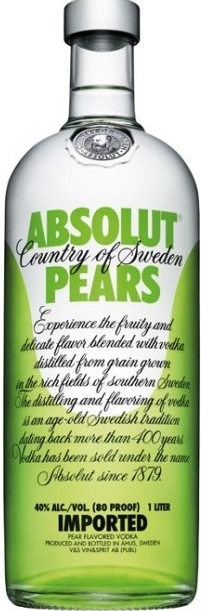 ABSOLUT PEARS - 1L  40%