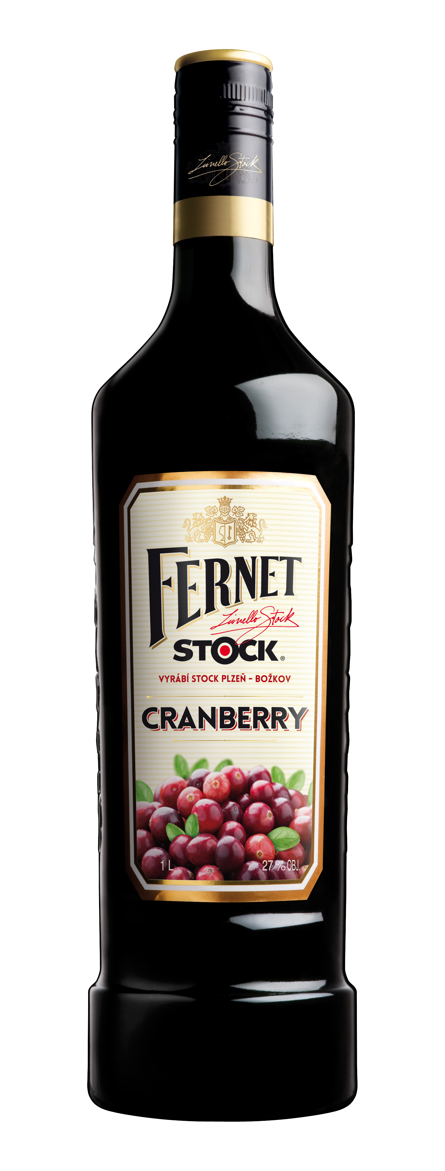 FERNET STOCK CRANBERRY - 1L  27%